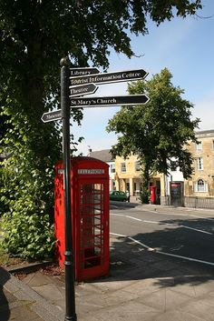 Iconic red telephone box (and postbox in the background) in Chipping Norton