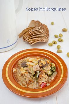"""""""Sopes mallorquines"""". This typical, classic and healthy stew with bread is eaten in autumn and winter in the mallorcan villages."""