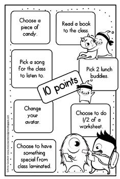 Class Dojo Prize Points, Posters, and Booklet. by Anita Goodwin Classroom Organization, Classroom Management, Classroom Ideas, Dojo Points, Special Needs Teaching, G Song, 4th Grade Classroom, Reward System, Teaching Strategies
