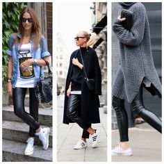 white-trainers-outfits, looks con deportivas blancas