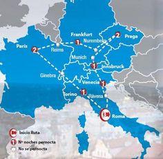 Oferta de viaje a Italia. Entra, informate y reserva el viaje Circuito de 12 dias por Italia, Paris y Praga con inicio y final en ROMA