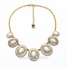 US $9.32 2017 Newest Design Acrylic White Crystal Round Bib Statement Chunky Choker Necklaces & Women Perfume Jewelry Necklace. Aliexpress product