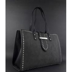 Gio Cellini   Borsa Shopper Donna Ecopelle Nero Profilo Borchie Prezzo  119 ad8df9cd921