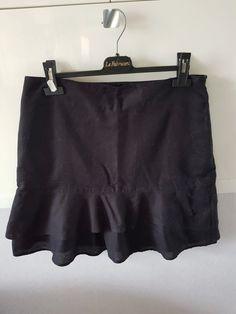 4aafce4ce00 Jupe noire volantée - Jupe noire volantée 62% lin 38%cotton  videdressing