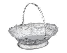 Georgian Silver Cake Basket by William Plummer | M.S. Rau Cake Basket, Silver Cake, Get Directions, Georgian, Art Forms, Free Gifts, Antique Silver, Decorative Bowls, Motto