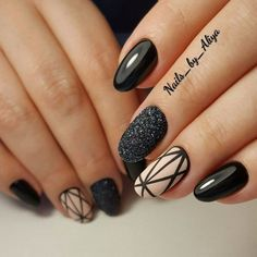 Gel Nail Designs You Should Try Out – Your Beautiful Nails Diy Nails, Cute Nails, Pretty Nails, Gorgeous Nails, Best Nail Art Designs, Gel Nail Designs, Fingernail Designs, Black Nail Designs, Uñas Diy