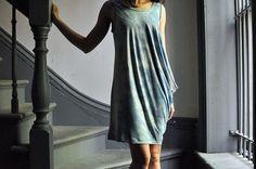 Drape Drape 2 : Indigo Dyed Bamboo Jersey by make_something, via Flickr