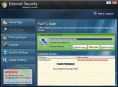 Internet Security Designed infection must be removed by follow given steps.