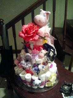 Sophias diaper cake by Jodi Rebedew