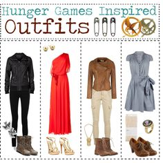 Hunger Games Inspired Outfits, created by tipgirlie on Polyvore