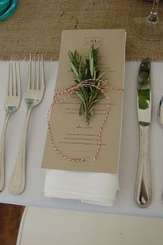 Can't have a Tuscan inspired wedding without fresh rosemary showing up somewhere! : )
