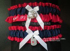 Military US Marine garter set with an EGA  by CreativeGarters, $28.00