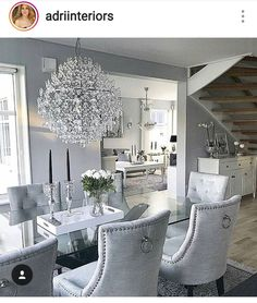 Luxury 24 Modern Table Dining Room Design In 2019 - Home Decor Interior Dining Room Table Decor, Elegant Dining Room, Luxury Dining Room, Dining Room Design, Dining Room Furniture, Living Room Decor, Furniture Stores, Dining Rooms, Furniture Design