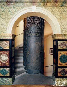 An exotic entrance hall by Studio Peregalli in Milan, Italy #HouseandGarden