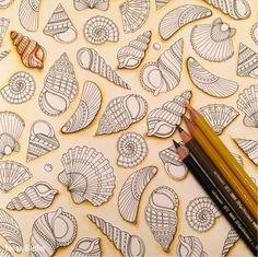 Work in progress- Lost Ocean/Johanna Basford/ Ness Butler