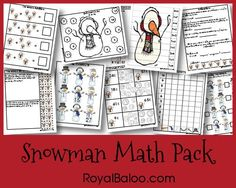 Snowman Math Pack from Royal Baloo