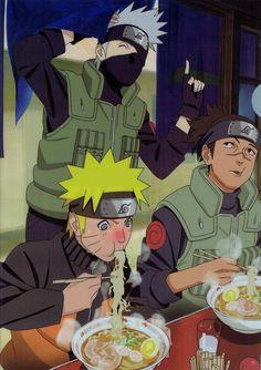 Naruto (Naruto Uzumaki, Kakashi Hatake, Iruka Umino)