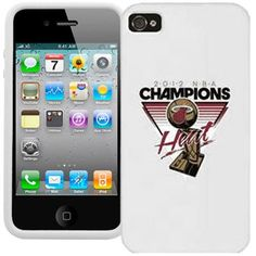 Miami Heat 2012 NBA Finals Champions Trophy iPhone 4 Cover - White