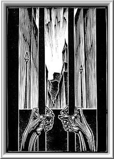 The subterranean cell--from Mamertine to San Quentin. Lynd Ward's print from God's Man.