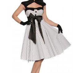 Sehr hochwertiges Kleid im Rockabilly- Style mit einer dekorativen (angenähten) Satinschleife vorne. Es hat im...