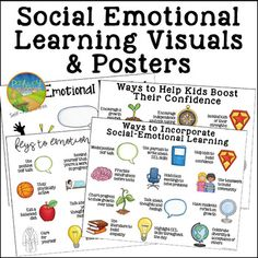 Use this free social emotional learning posters to highlight critical SEL skills with your learners. This set includes 4 unique posters focusing on supporting students' social and emotional needs. They are great reminders for adults working on these skills with their