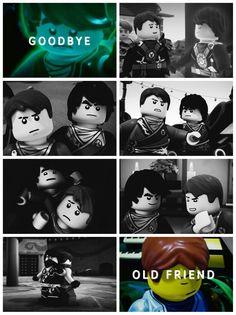 Goodbye old friend. #ninjago <<<<<< OH THE FEELS <<< my heart just broke...