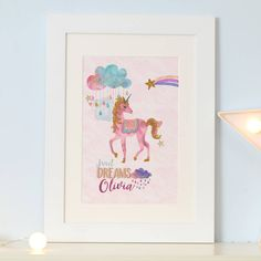 Are you interested in our Unicorn art print? With our unicorn gift you need look no further.