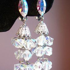Vintage Lewis Segal Aurora Borealis Crystal Bead Chandelier Earrings 39 Vintage Crystal Chandelier, Bead Chandelier, Crystal Beads, Crystals, Aurora Borealis, Vintage Earrings, Ears, Northern Lights, Northan Lights