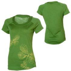 Icebreaker Butterfly Line Scoop Jungle W (XS en XL) ** | Shirts korte mouw | MOOSECAMPwebshop