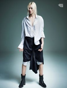Andrej Pejic actually looking a bit like a man.