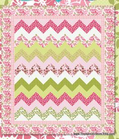 Quilt Kit  Dainty Blossoms by Carina Gardner by thesproutzstore, $59.95