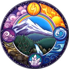 Rainbow Mountain Window Sticker - Bring your windows to life with these luminous window stickers.High quality, permanent-stick artwork in beautiful translucent colors. For indoor or outdoor use. For any window, glass door or smooth flat surface. Window Stickers, Bumper Stickers, 4 Elements, Element Symbols, Window Art, Window Glass, Glass Doors, 7 Chakras, Book Of Shadows