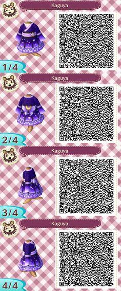 ACNL QR Code: Moon Kimono