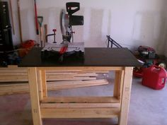 My work bench inspiration will also be my first wood work project