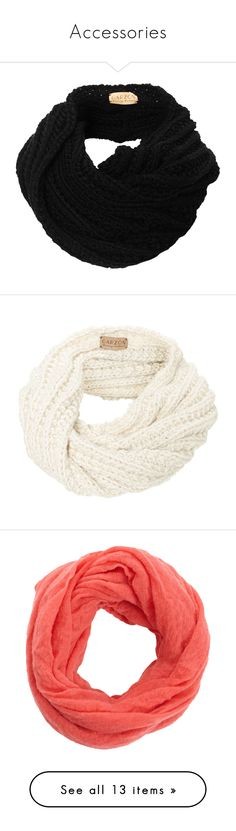 """""""Accessories"""" by eirinimaria ❤ liked on Polyvore featuring accessories, scarves, black, bufandas, cowl scarves, merino wool shawl, snood scarves, merino shawl, thick scarves and accessories - scarves"""