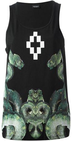 Marcelo Burlon County of Milan snake print vest top on shopstyle.co.uk