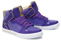ba1e1cbbd8a Purple sneakers Zapatillas De Deporte De Caña Alta
