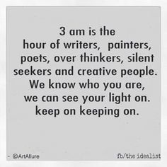 Working at 3 AM again... keep your light on ;-)                                                                                                                                                                                 More