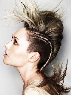 Undercut Hair with Braid for Women