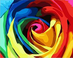 DIY Painting,canvas wall art painting by number kit- Rainbow Rose 16x20 inch (Without wood frame) DIY Painting http://www.amazon.com/dp/B00RDX41OS/ref=cm_sw_r_pi_dp_42A5vb15D060Z
