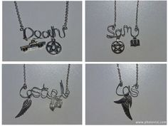 Customised Supernatural Character Wire Word Necklace  by Incantata