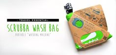 Say goodbye to your laundry woes while traveling. Introducing: the Scrubba Wash Bag — the world's lightest and smallest portable washing machine!