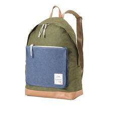 Washed Fabric Backpack with Big Pocket Green by BagDoRi on Etsy