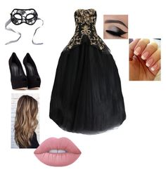 """""""Masquerade ball or Halloween costume party"""" by makia115 ❤ liked on Polyvore featuring Marchesa, Chicnova Fashion, Giuseppe Zanotti and Lime Crime"""