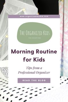Learn how to create a morning routine for kids shared by The Organized Kids. Plus you can download the free morning routine checklist! Morning Routine Chart, Morning Routine Kids, Morning Routine Checklist, Kids Bedroom Organization, Playroom Organization, Organizing, Daily Schedule Kids, Small Playroom, Kid Check
