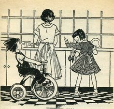 From Beezus and Ramona (Beverly Cleary, illustration by Louis Darling) Ramona Books, Ramona Quimby, Beverly Cleary, Children's Picture Books, Paintings I Love, Vintage Children's Books, Children's Book Illustration, Illustrations And Posters, Childhood Memories