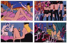 'Jeu de Massacre' (1966). Directed by Alain Jessua'. Starring Claudine Auger, Jean-Pierre Cassel and Michel Duchaussoy.Comic Book artwork by Guy Peellaert.