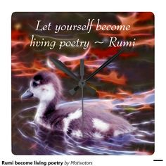 Rumi become living poetry square wallclocks
