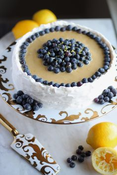 Paleo Lemon Blueberry Layer Cake (AIP) + Worth the Wait