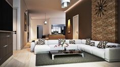 14 Examples Of Sensational Stone And Tile Accent Walls In The Living Room